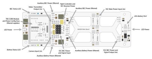 small resolution of qav250 fury power distribution board