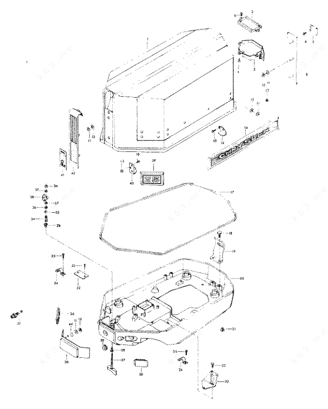 Chrysler 25 1975, Engine Cover and Support Plate Electric