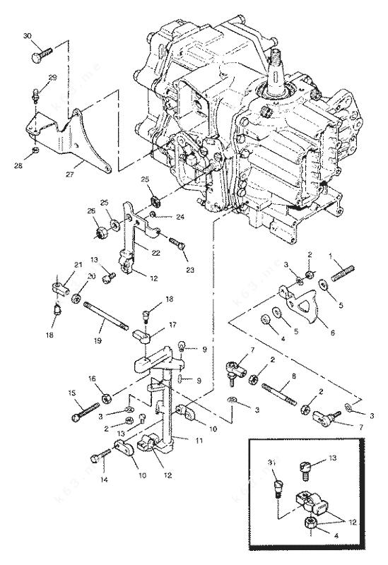 Mercury/Mariner 50 H.P. 1991, Shift and Throttle Linkage