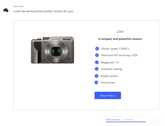Camera Selected Product Finder Bot