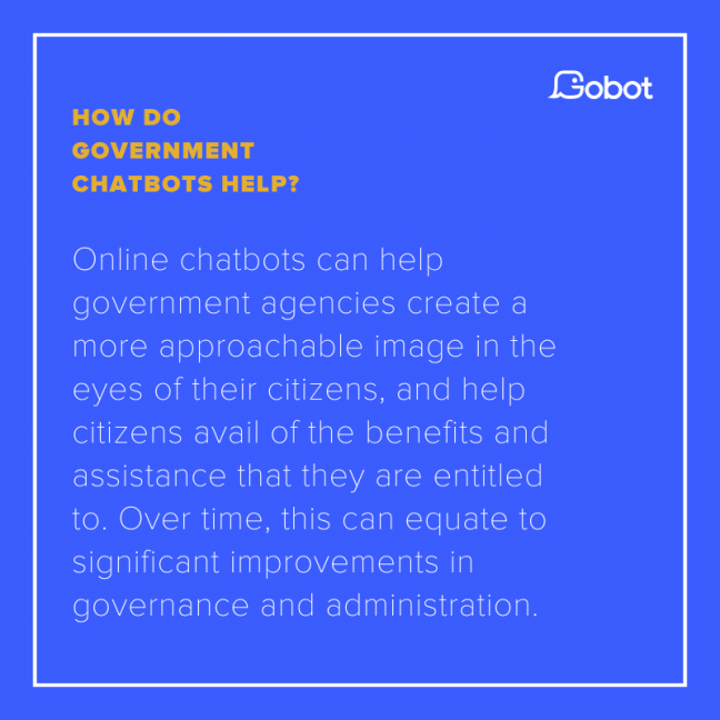 How do government chatbots help?