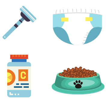 Commodity and convenience item subscriptions - razors, diapers, vitamins, pet food