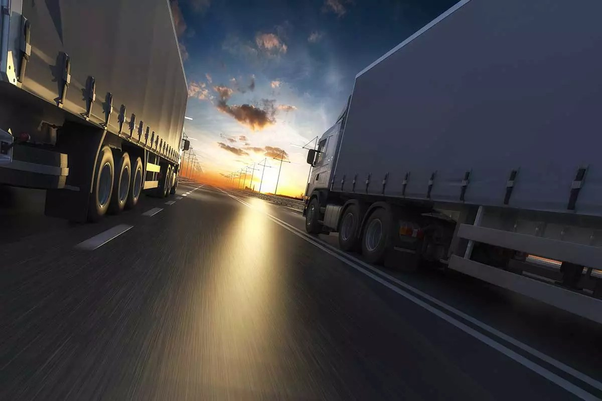 Semi Truck Highway
