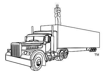 Drawing on truck of Gordon McKernan