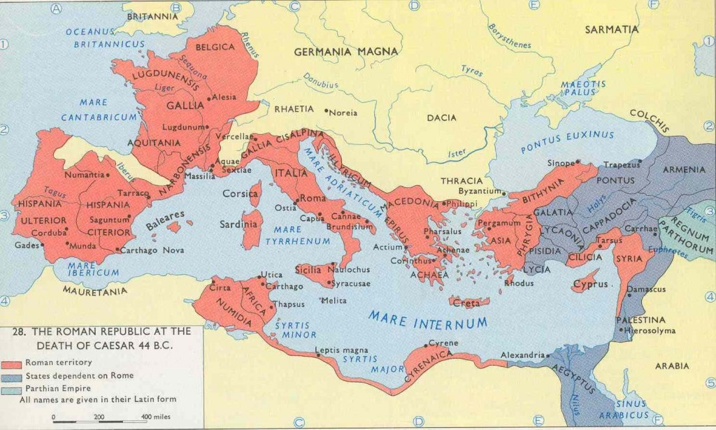 Map Julius Caesar Conquer