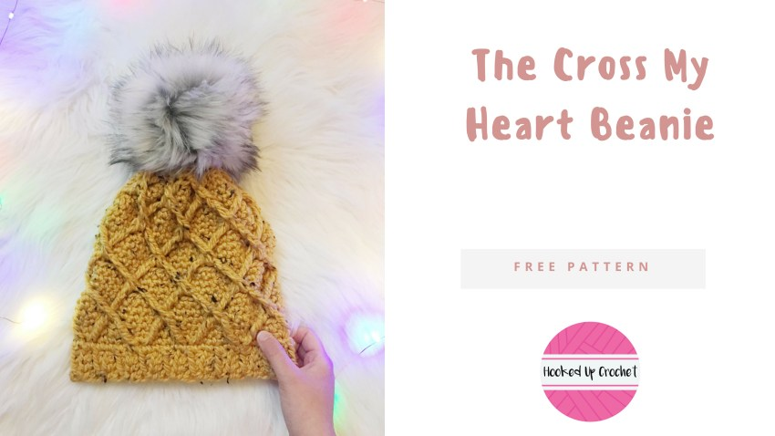 The Cross My Heart Beanie – Hooked Up Crochet 1f53918bd08