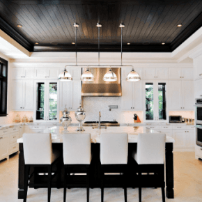 kitchen ceilings aid slow cooker 20 ideas for interior design center inspiration black and wood planks ceiling nextluxury com