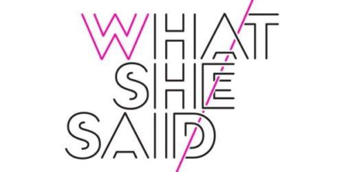 Nicole Lapin / WHAT SHE SAID