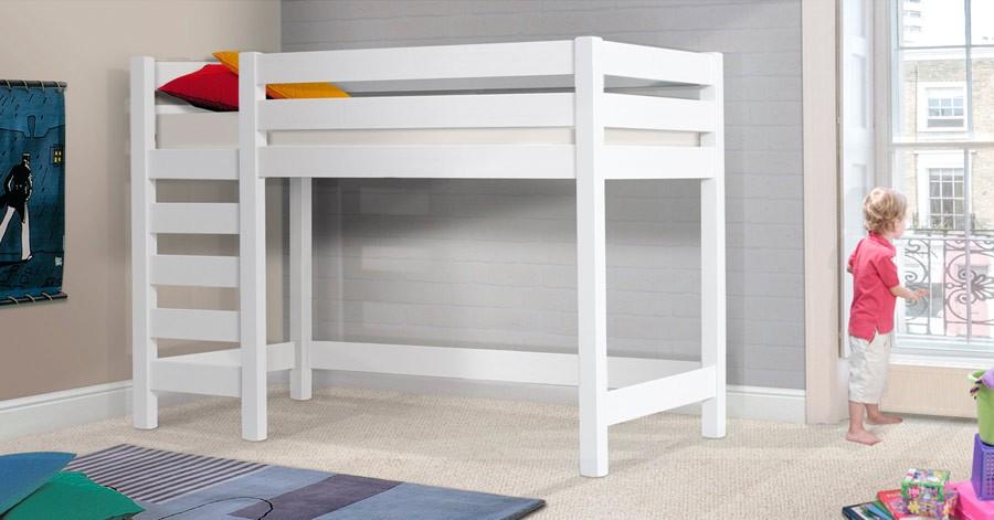 wooden high sleeper bed frame