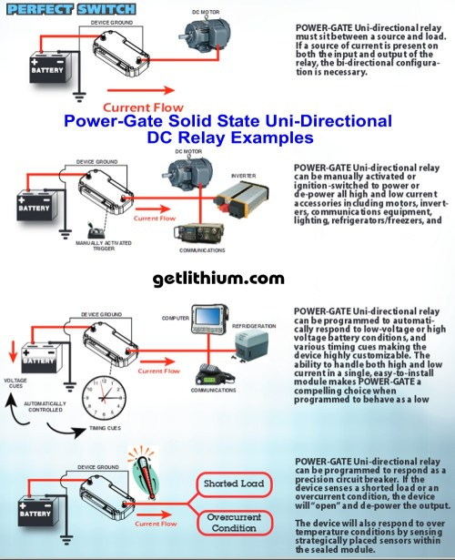 small resolution of power gate uni directional dc relay applications