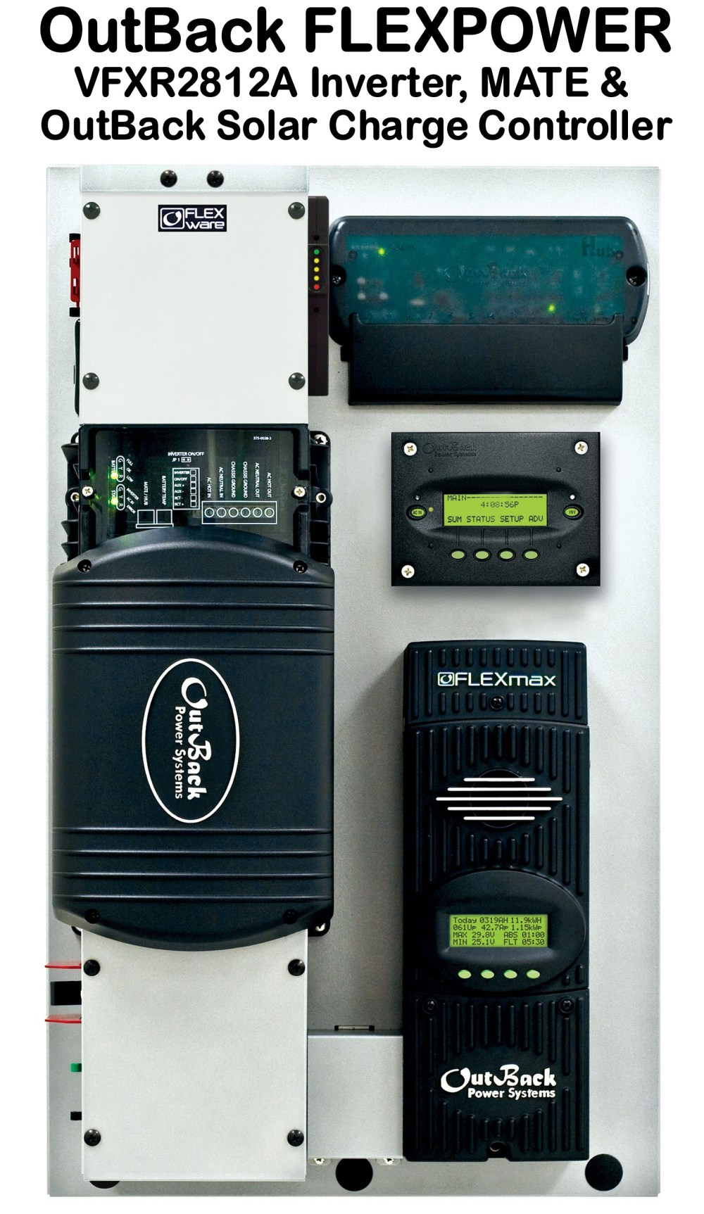 medium resolution of click here for a larger image of this outback power vfx 2812 inverter charger for off