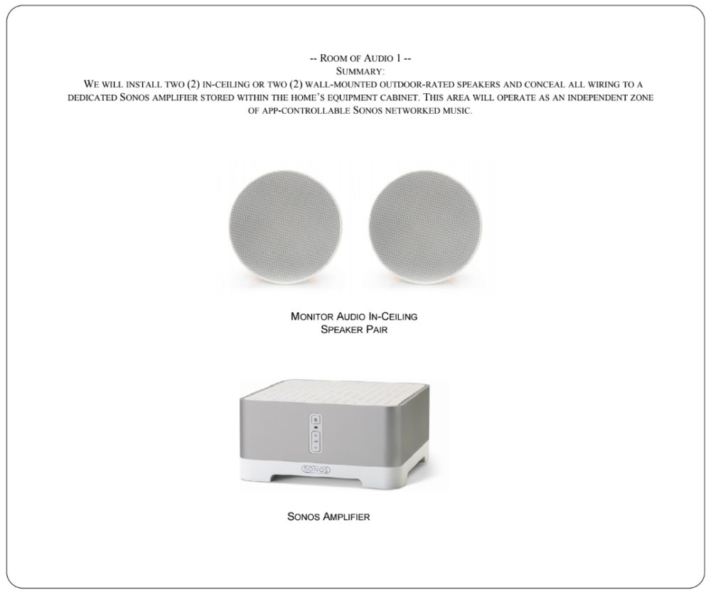 medium resolution of room of sonos audio with pair of in ceilng or outdoor speakers