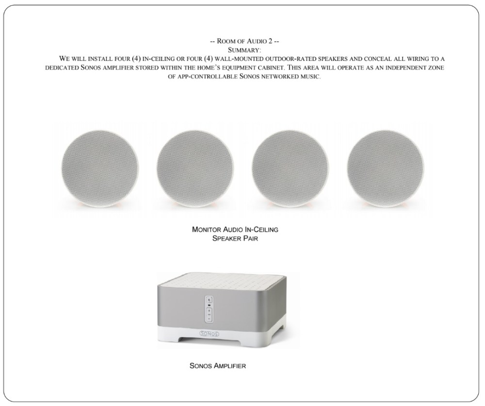 medium resolution of room of sonos audio with 2 pairs of in ceiling or outdoor speakers