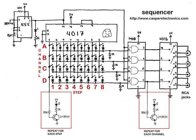 DIY Modular Sequencer Circuit Examples | GetLoFi
