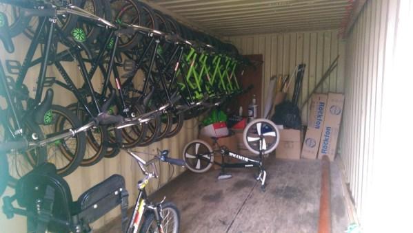 Hornfair Park, Greenwich BMX Club - Bike Storage Hooks