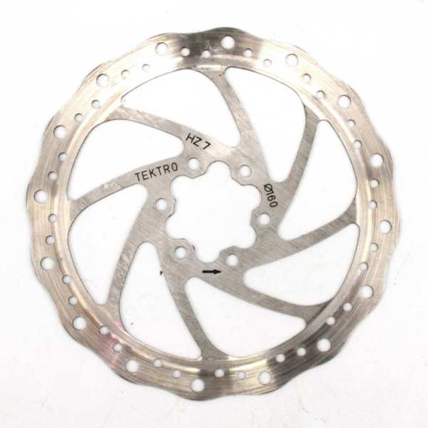 TEKTRO Wavey 160mm Silver Disc Rotor 6 Bolt