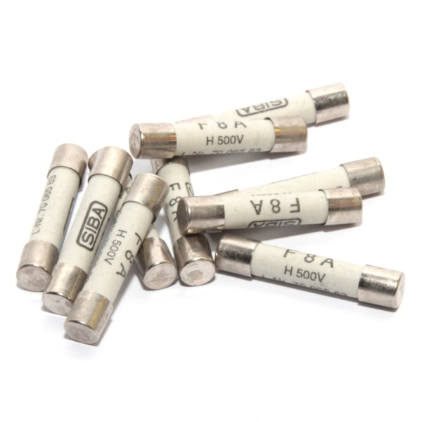SIBA - Fuse Quick Blow F8A - 70-065-63 8A - Fast Acting for Microwave - Pack of x10