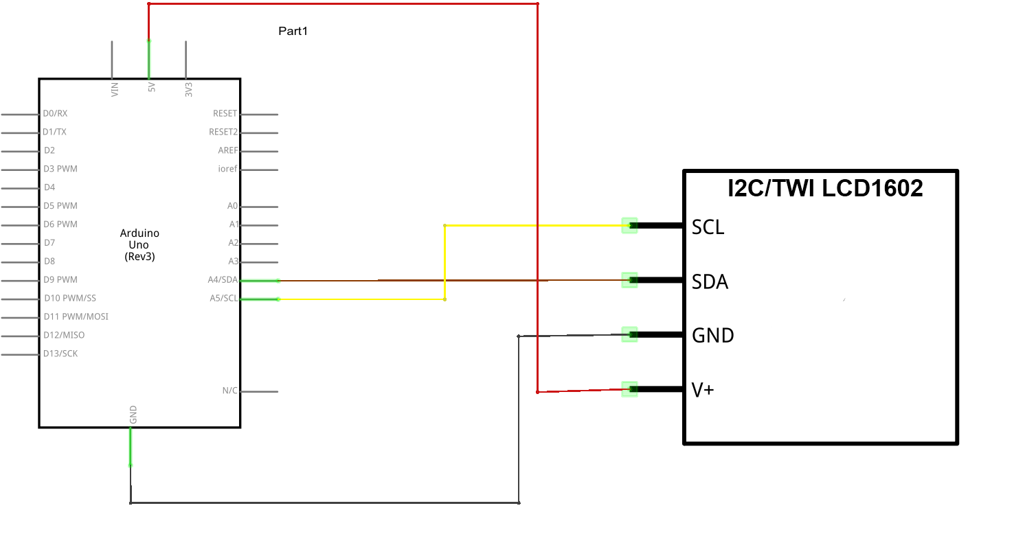 Arduino And I2c Serial Lcd Example