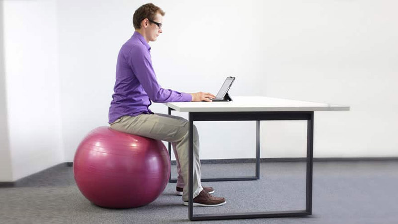 Getting fit Exercise balls