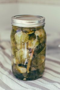 Jarred pickled brussel sprouts - The Mummy