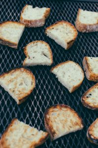 bread toasting on grill top view - The Mummy