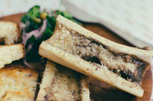 Close up on roasted bone marrow - The Mummy
