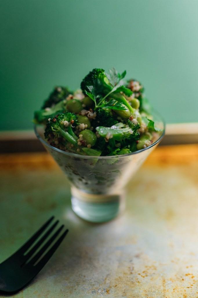 Edamame and Quinoa salad for our Godzilla menu