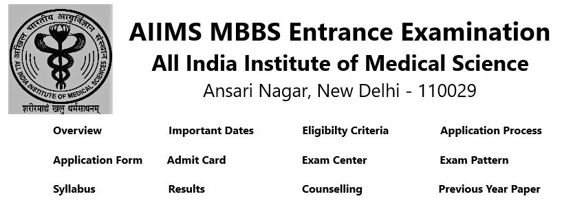 AIIMS MBBS 2019 Application Form, Exam Date, and Syllabus