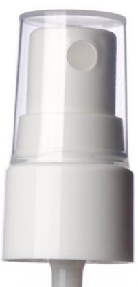 white smooth skirt fine mist fingertip sprayer