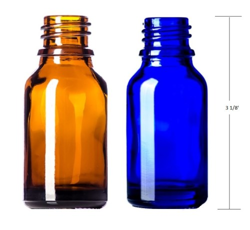 1 oz boston round glass bottle