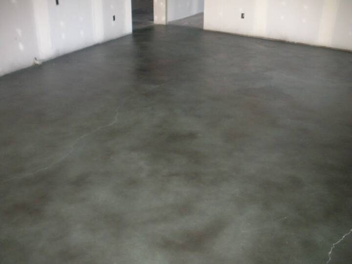 Gray Stained Concrete Floors