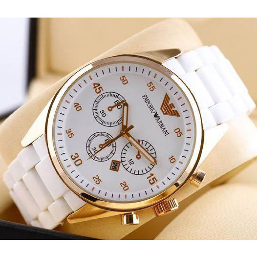9b6235a14 Emporio Armani White Platinum Edition Watch In Pakistan