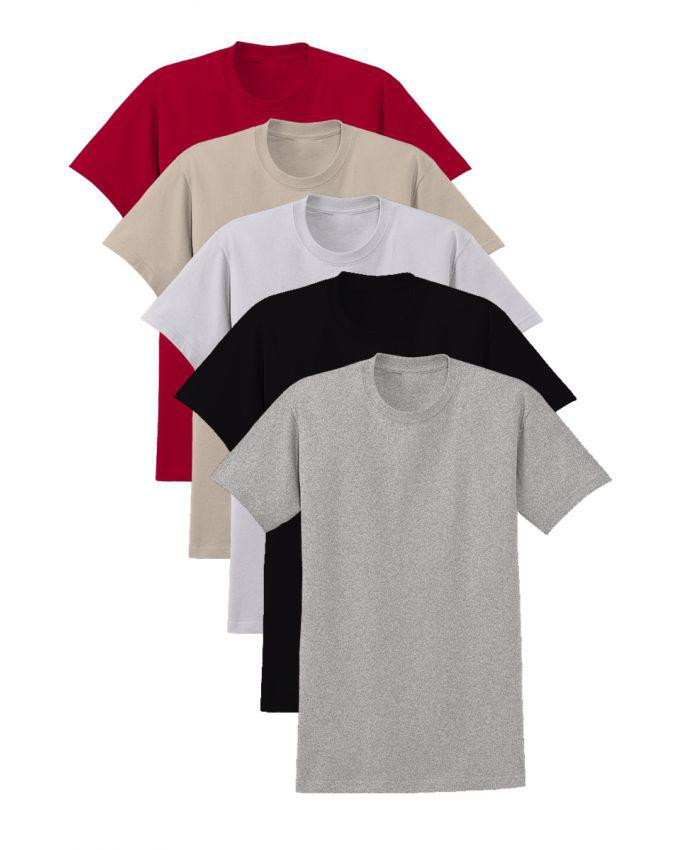 3781a941 Buy Pack of 5 Plain Round Neck T-Shirts in Pakistan | GetNow.pk
