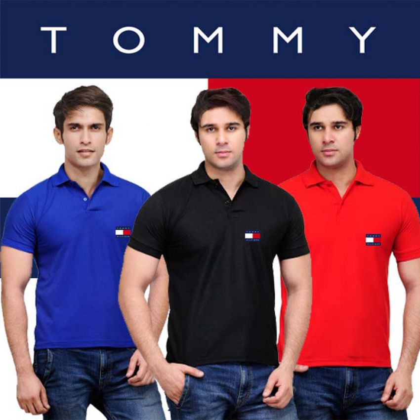 Pack Of 3 Tommy Polo T Shirts in Pakistan