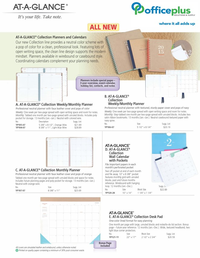 AT-A-GLANCE Collection Customizable Sell Sheet_Page_1