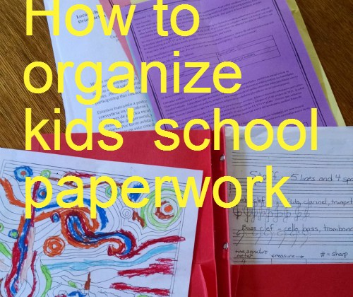 How to organize kids' school paperwork