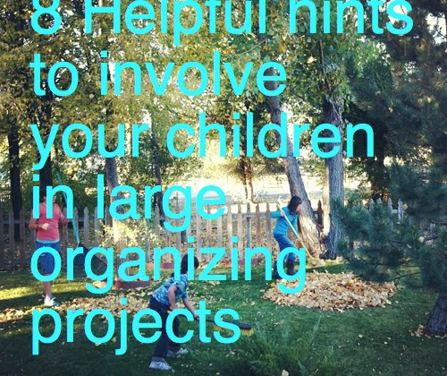 8 Helpful hints to involve your children in large organizing projects