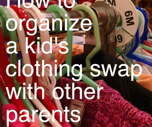 How to organize a kids' clothing swap