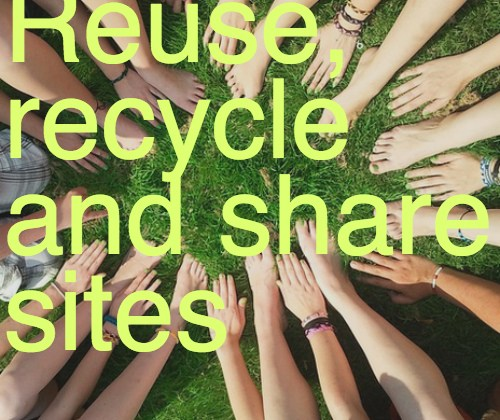Green Organizing made easy with reuse, recycle and sharing websites