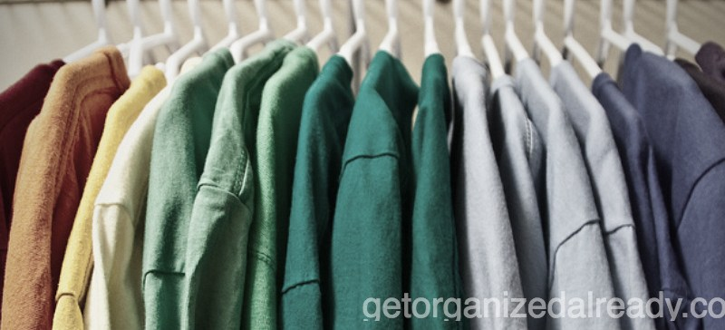 Your husband has too many T-shirts: Organizing family