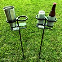 Outdoor Beverage Holder Stand - Outdoor Designs