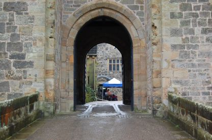 Over the drawbridge and through the gate house