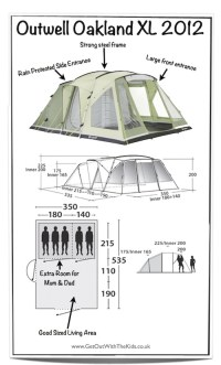 Outwell Oakland XL Tent (2012 Deluxe Edition) - Tent ...