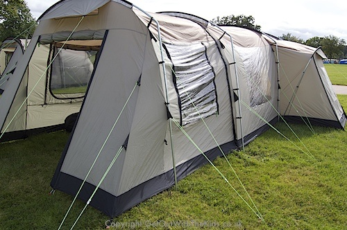 Coleman Mackenzie Cabin 6L Family Tent & Hi Gear Corado 8 - An 8 person 4 bedroom massive family tent