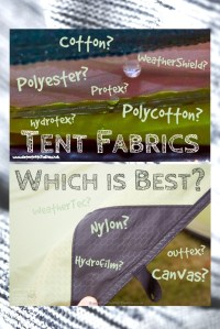 Tent Fabrics - Which is the Best? Canvas? Polycotton ...