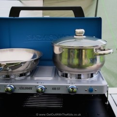 Campingaz Kitchen Remodeling Silver Spring Md 400 St Review A Wind Resistant Stove Get Out With The Plenty Of Room For Big Pans On