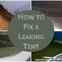Here's a Quick Way to Fix a Leaking Tent