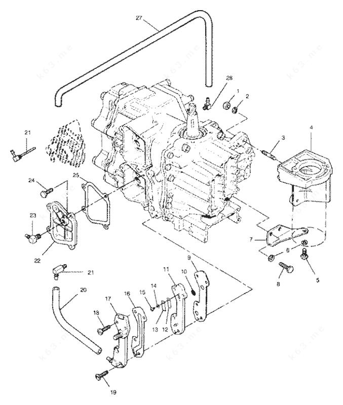 Mercury/Mariner 50 H.P. 1991, Recirculation System and