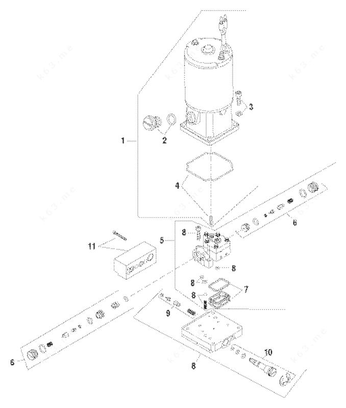 Mercury Force 75 H.P. 1996, Pump/Motor Kit Design II