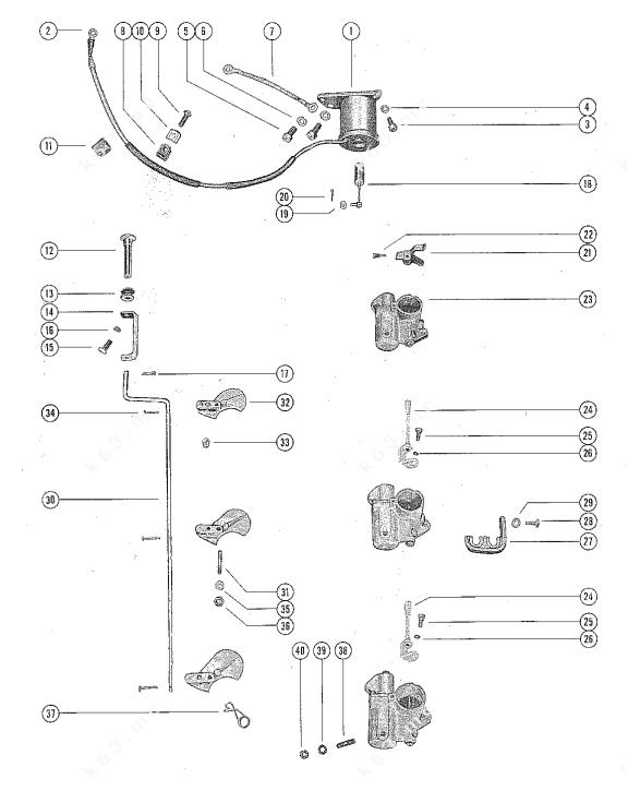 Mercury/Mariner 1000, Carburetor Linkage and Choke